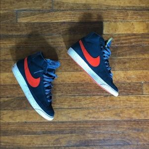 Nike SB Blazer Mid 6Y Eu 38 Ladies 7.5 Navy Orange